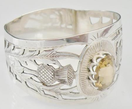 Silver Napkin Rings with Thistle Decoration