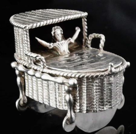 Novelty Antique Dutch Silver Snuff Box