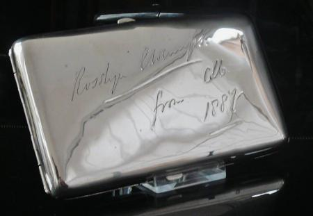 Unusual Antique Sterling Silver Cigarette Case