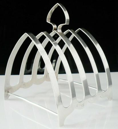 Gothic Arch Sterling Silver Toast Rack