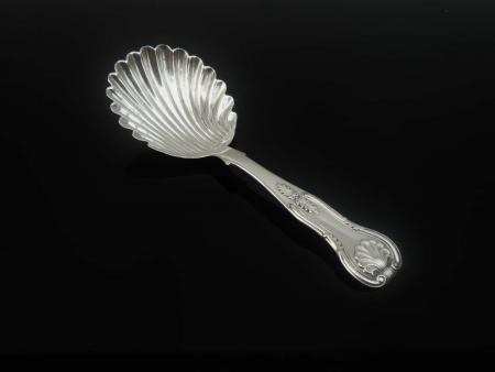 Silver Caddy Spoon, John Wilkie, Edinburgh 1851