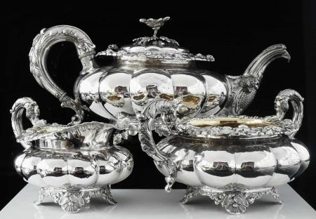 Scottish Provincial Sterling Silver Tea Set