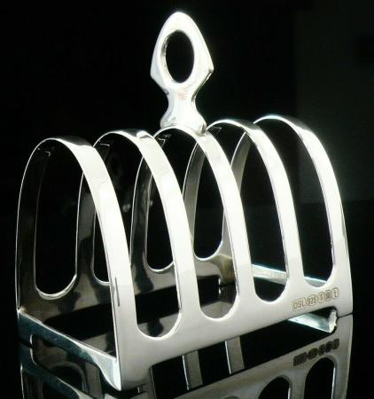 NEW Scottish Sterling Silver Toast Rack