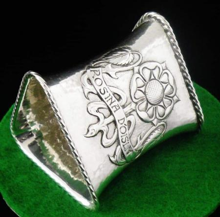 Art Noveau Styled Sterling Silver Napkin Ring