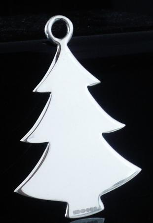 New Scottish Sterling Silver Hanging Christmas Tree Decoration