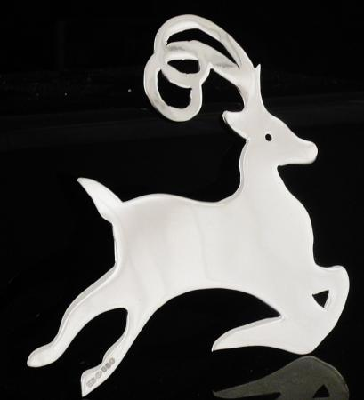 New Scottish Sterling Silver Reindeer Christmas Tree Decoration