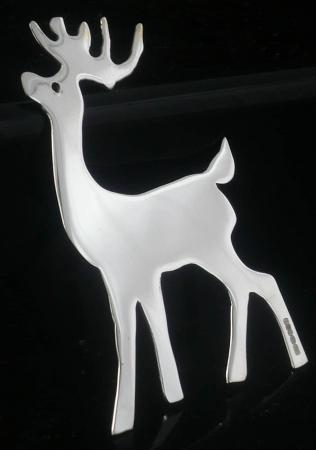 New Scottish Sterling Silver Hanging Reindeer Christmas Tree Decoration