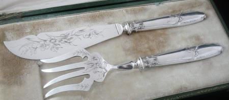 French Silver Fish Servers