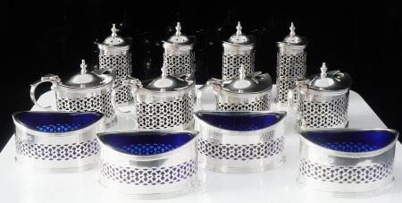 12 Piece Sterling Silver Condiment Set