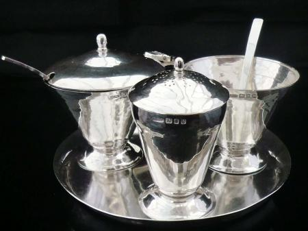 English Sterling Silver Condiment Set