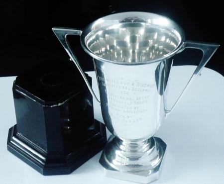 Agricultural Sterling Silver Trophy