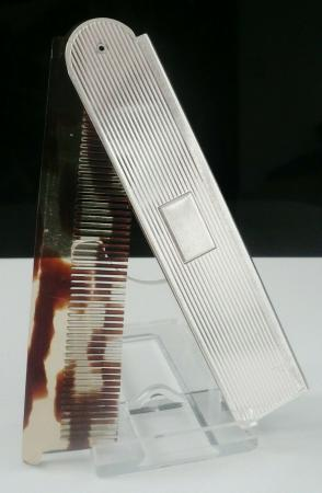 Silver Folding Hair Comb