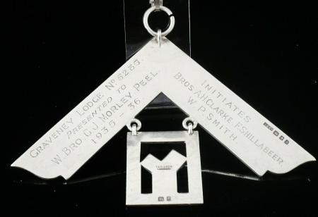 Silver Masonic Collar Jewel