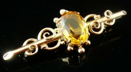 9ct Rose Gold Brooch