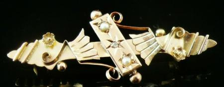 Antique 9ct Gold Brooch