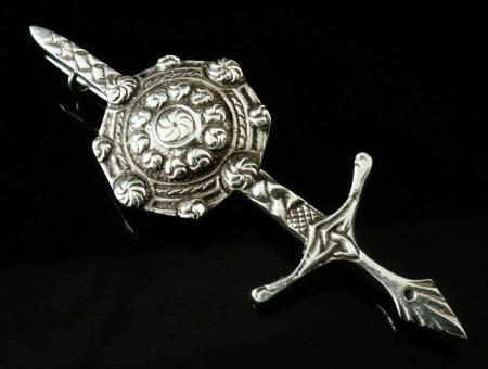 Silver Kilt Pin Brooch