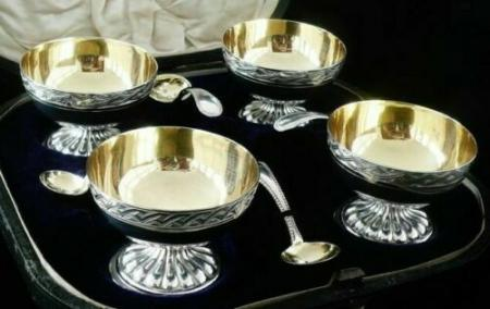English Sterling Silver Salts