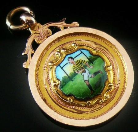 Gold Pocket Watch Fob