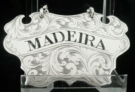 Silver MADEIRA Decanter Label