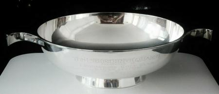 English Sterling Silver Quaich