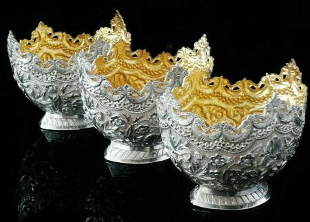 Antique Indian Silver Bowls