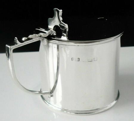 Silver Drum Mustard Pot