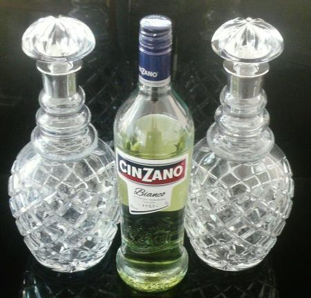 Heavy Cut Glass Decanters