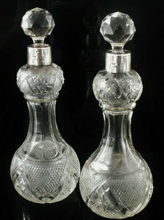 Antique Cut Glass Decanters