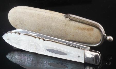 Silver Folding Fruit Knife