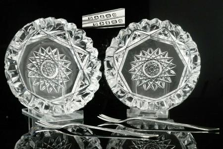 Cut Glass Butter Dishes