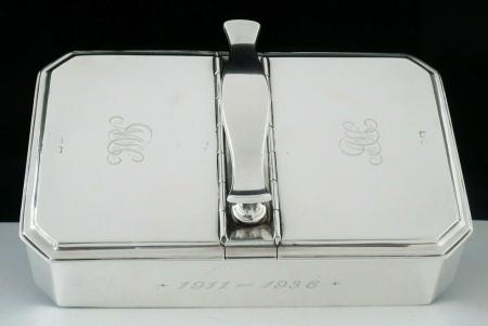 Sterling Silver Cigarette Box