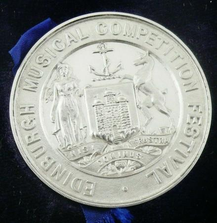 Cased Sterling Silver Medal