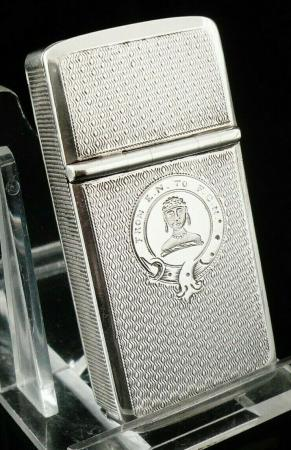 Silver Combination Vesta Case