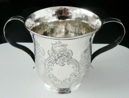 Silver 2 Handled Porringer