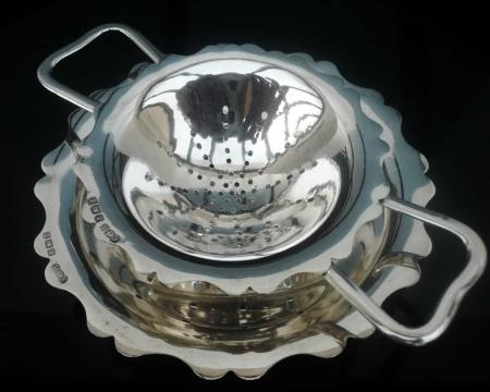 Silver Tea Strainer by E J Houlston