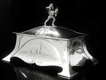 Large Sterling Silver Casket