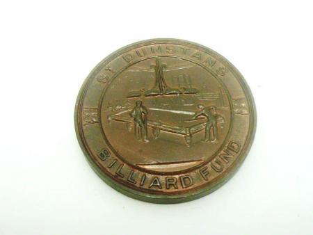 Vintage St Dunstans Billiard Fund Medal, REF:276H