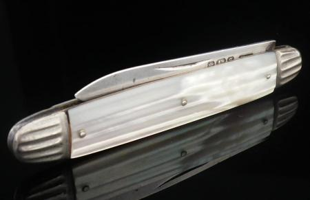 Folding Silver Fruit Knife by John Yeomans Cowlishaw